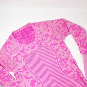 Lululemon Swiftly Tech Long Sleeve Crew Pink Camo